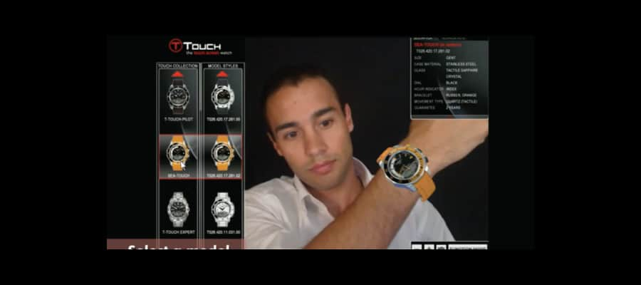 Various watches are augmented virtually onto your wrist so that you can make a more information decision about your purchase.